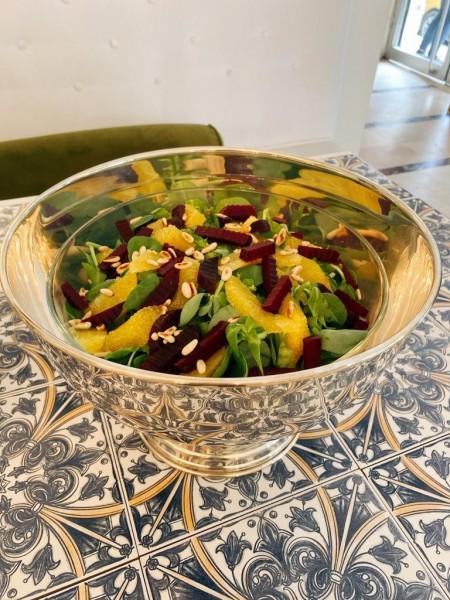 Pancarlı Portakallı Fıstıklı Semizotu Salatası